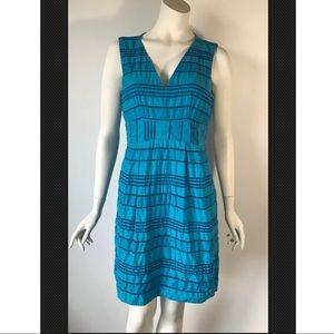 Nanette Lepore Women's Blue Crinkled Dress